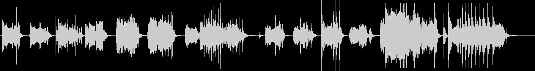 篠笛とドロ太鼓の純和風ホラーの未再生の波形