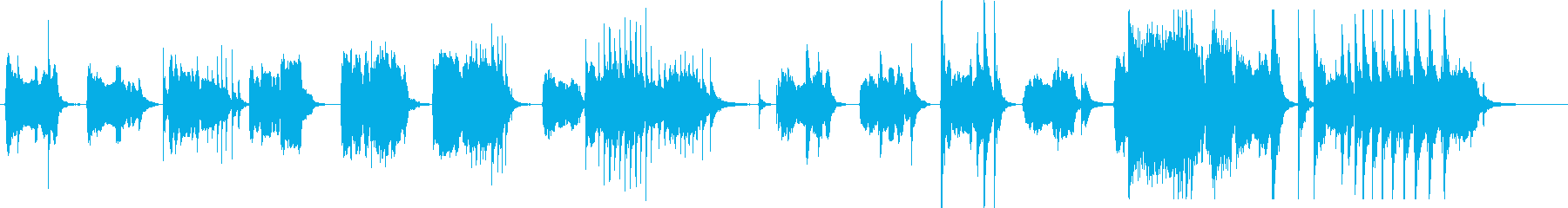 篠笛とドロ太鼓の純和風ホラーの再生済みの波形