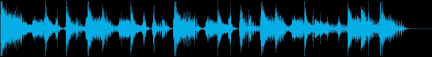 ファンキーでノリの良いジングルの再生済みの波形
