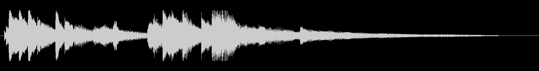 CM・企業VP 爽やかなピアノのジングルの未再生の波形