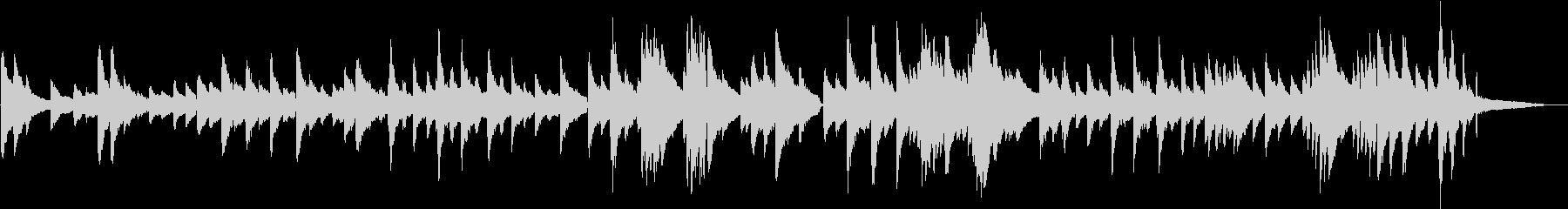 生演奏 ゆったりとしたピアノ曲の未再生の波形