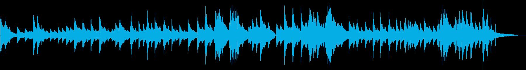 生演奏 ゆったりとしたピアノ曲の再生済みの波形
