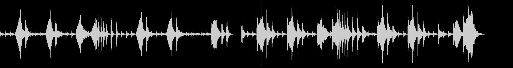 たどたどしいメロディー 「猫のうたた寝」の未再生の波形