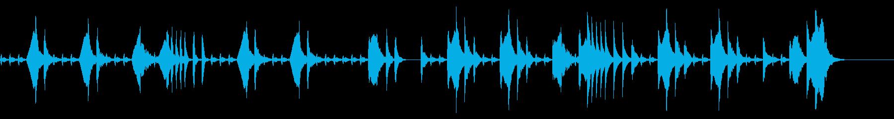 たどたどしいメロディー 「猫のうたた寝」の再生済みの波形