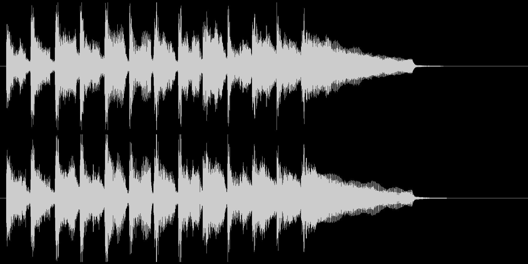 不思議系サウンドなフュージョンのジングルの未再生の波形
