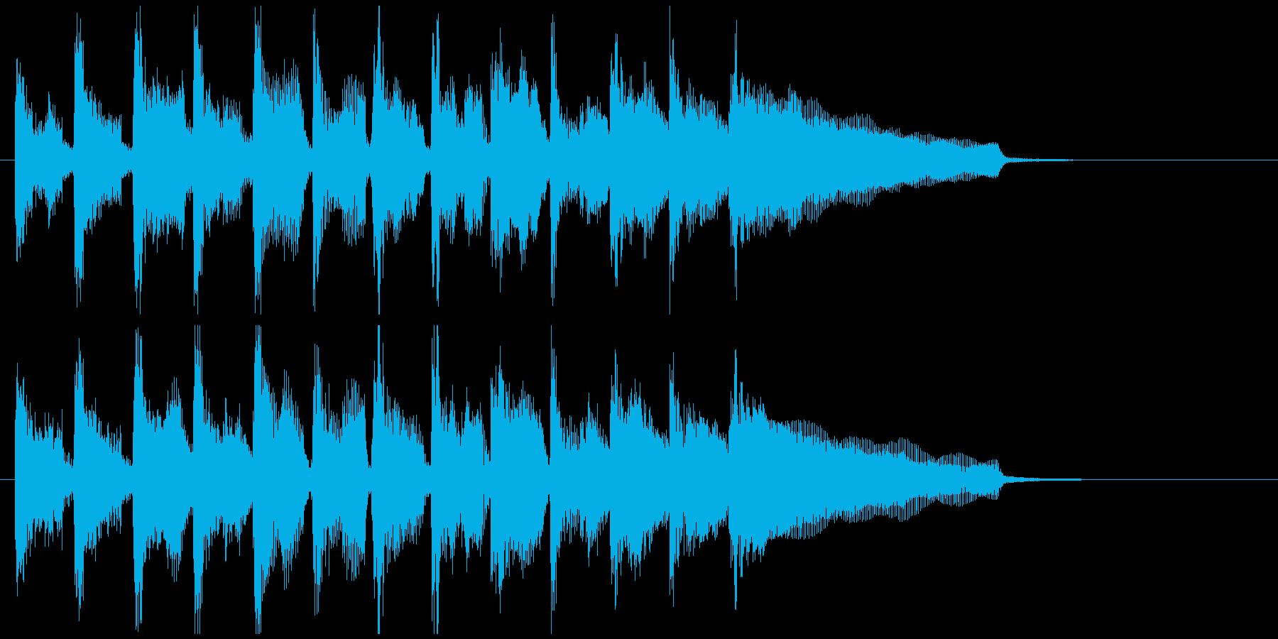 不思議系サウンドなフュージョンのジングルの再生済みの波形