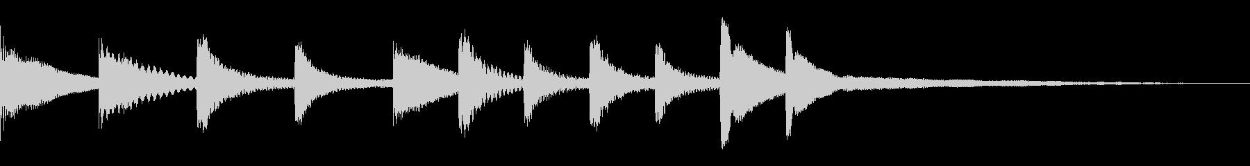 マリンバでのスタート音の未再生の波形