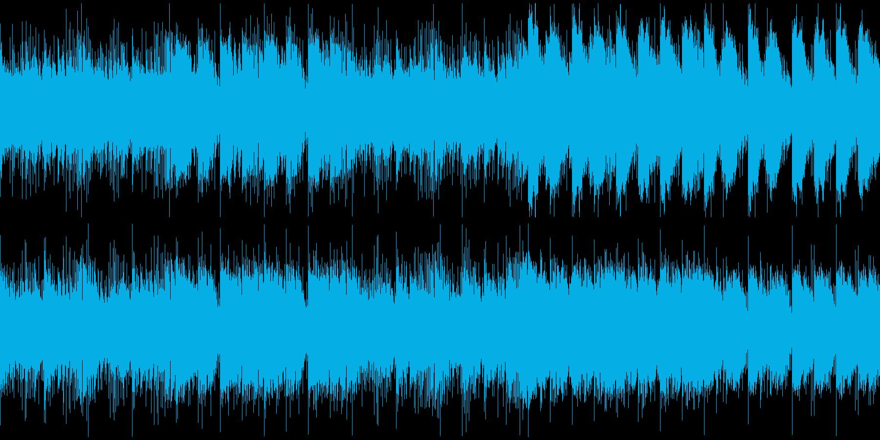 ホラー・恐怖・緊迫した曲の再生済みの波形