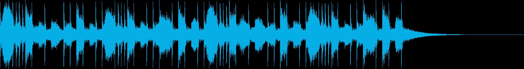 リアルなドラム2バス使用のリズムです。の再生済みの波形