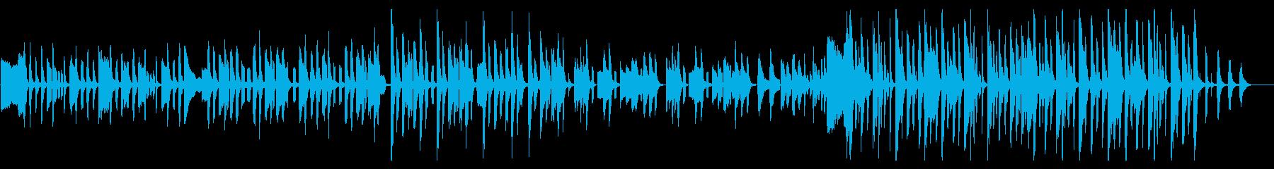 コミカルで気の抜けた楽しいギャグ系BGMの再生済みの波形