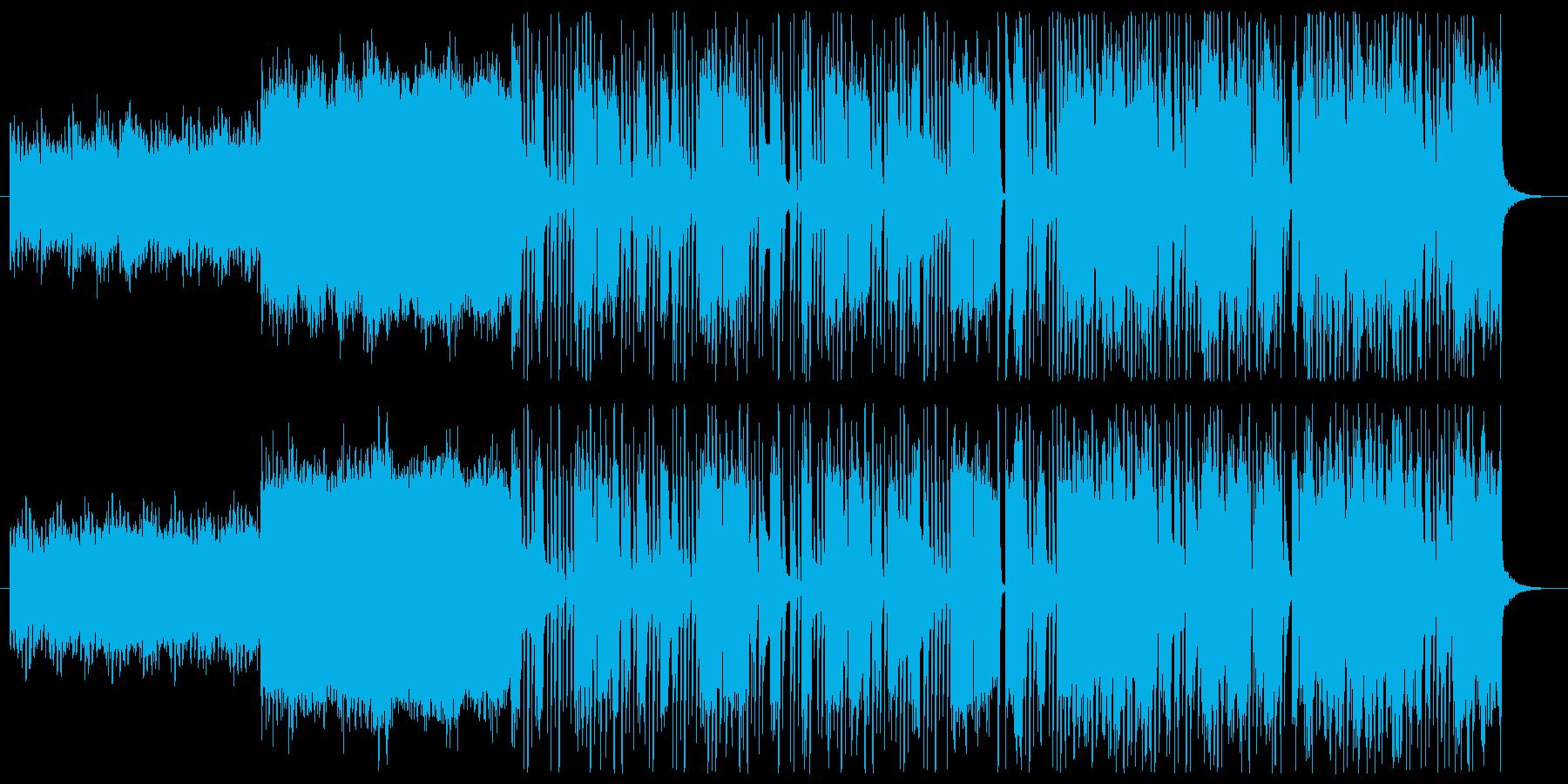 楽しそうな変則ビートの再生済みの波形