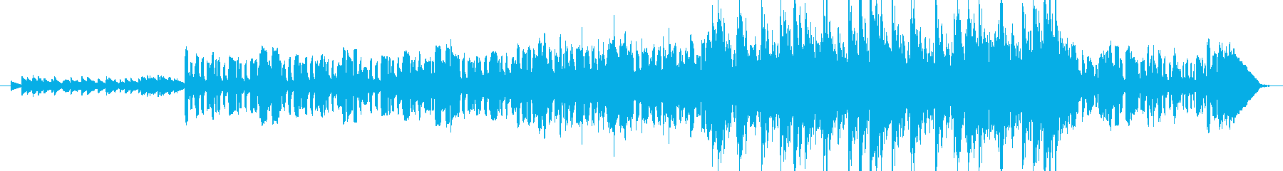 ケルト風のイントロミュージックの再生済みの波形