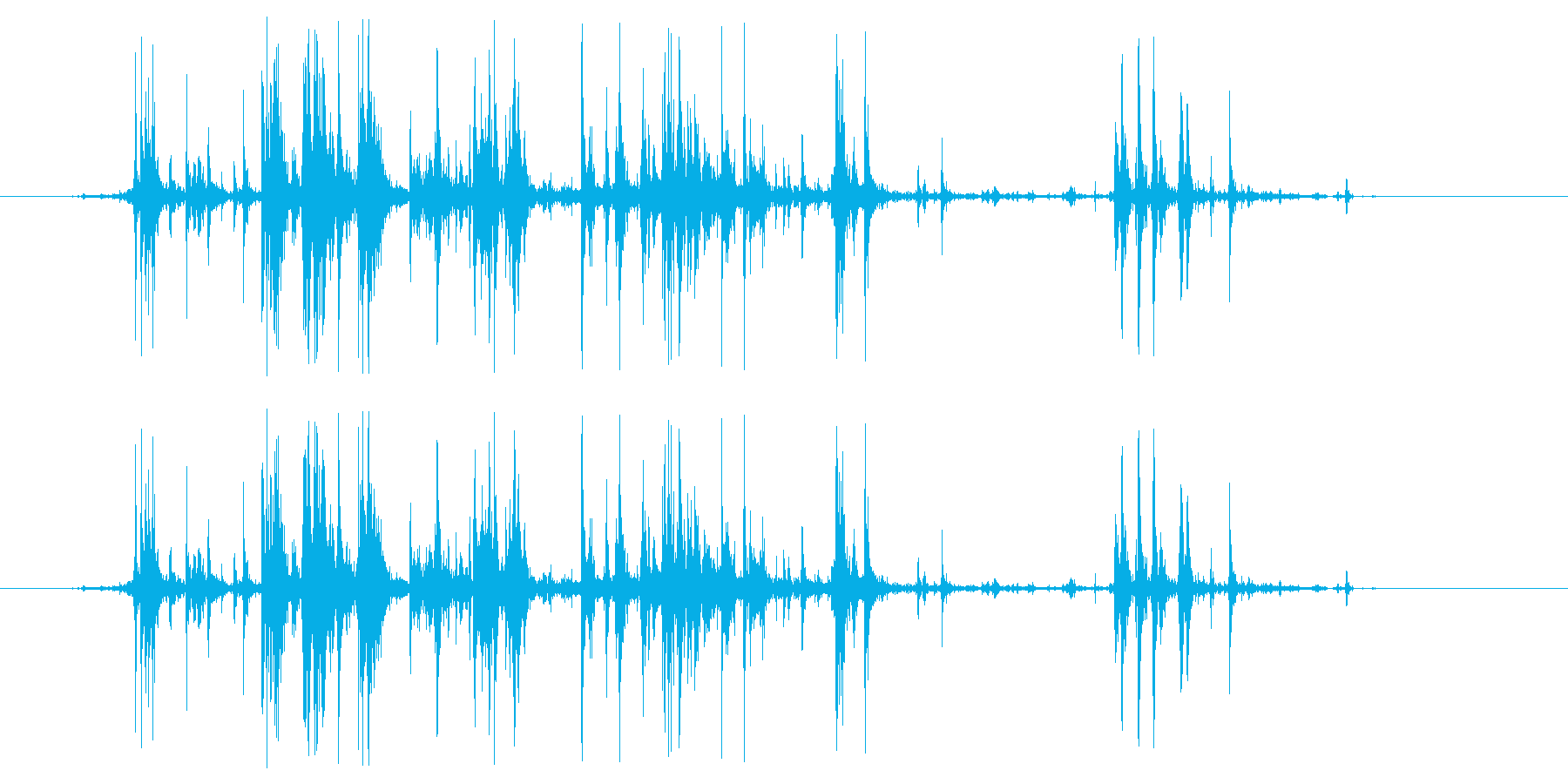 グシャリ系(卵の殻を握る音)の再生済みの波形