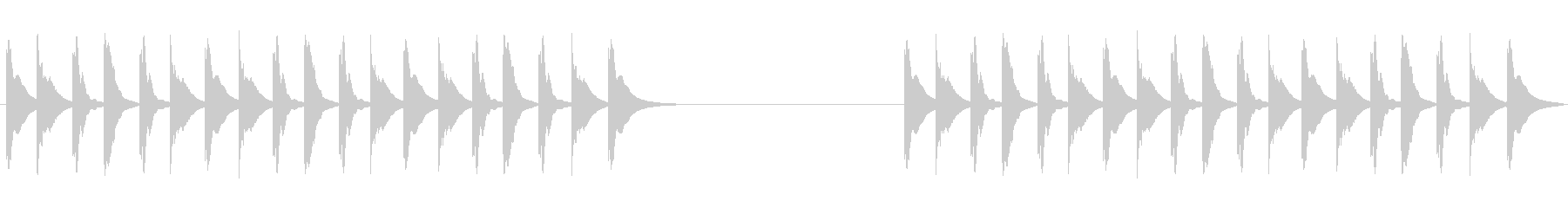 木琴ジングル、ほのぼのアニメ系の未再生の波形