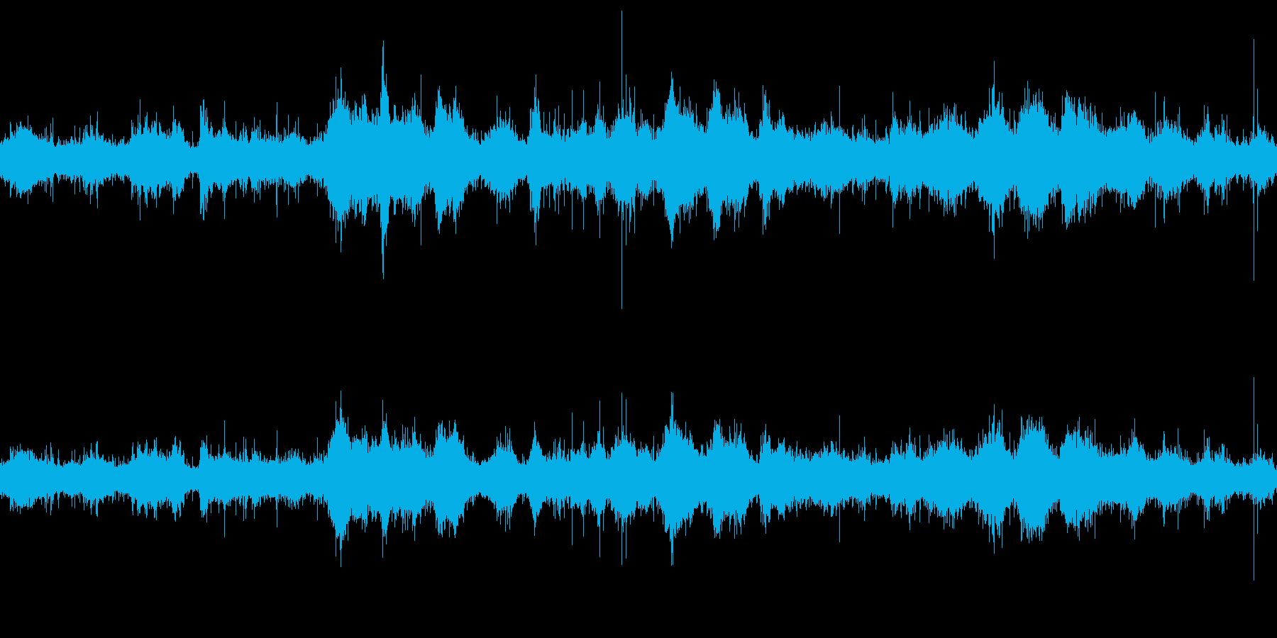 ループ再生用・波音・流れ込む海水の再生済みの波形