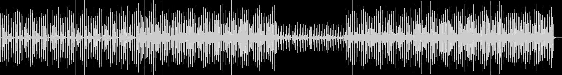 YouTube・エンディング・EDMの未再生の波形