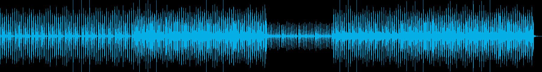 YouTube・エンディング・EDMの再生済みの波形