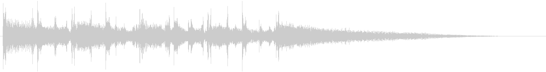 ギターコードとベースのメローなジングル1の未再生の波形