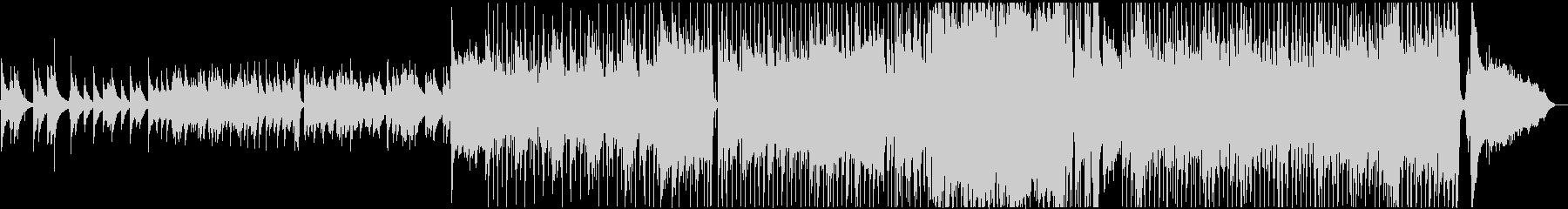 ゴスペル的イントロのミディアムバラードの未再生の波形