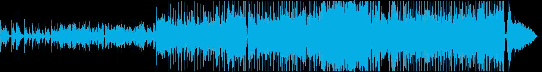 ゴスペル的イントロのミディアムバラードの再生済みの波形
