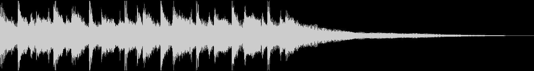 15秒ウクレレ、リコーダーの優しい楽曲Bの未再生の波形