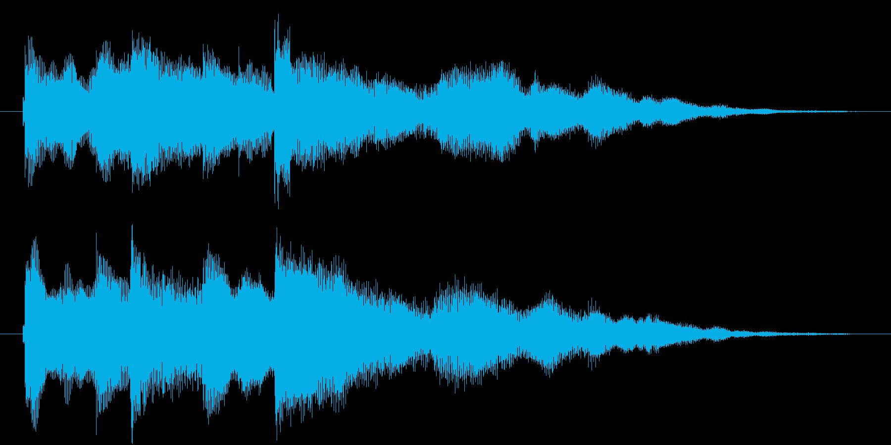 穏やかなジングル。キラキラ。の再生済みの波形