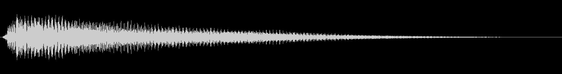 アコギ操作音 ジャラーンの未再生の波形