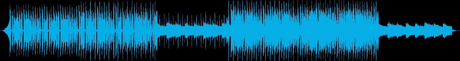 テクノポップ系トラックの再生済みの波形