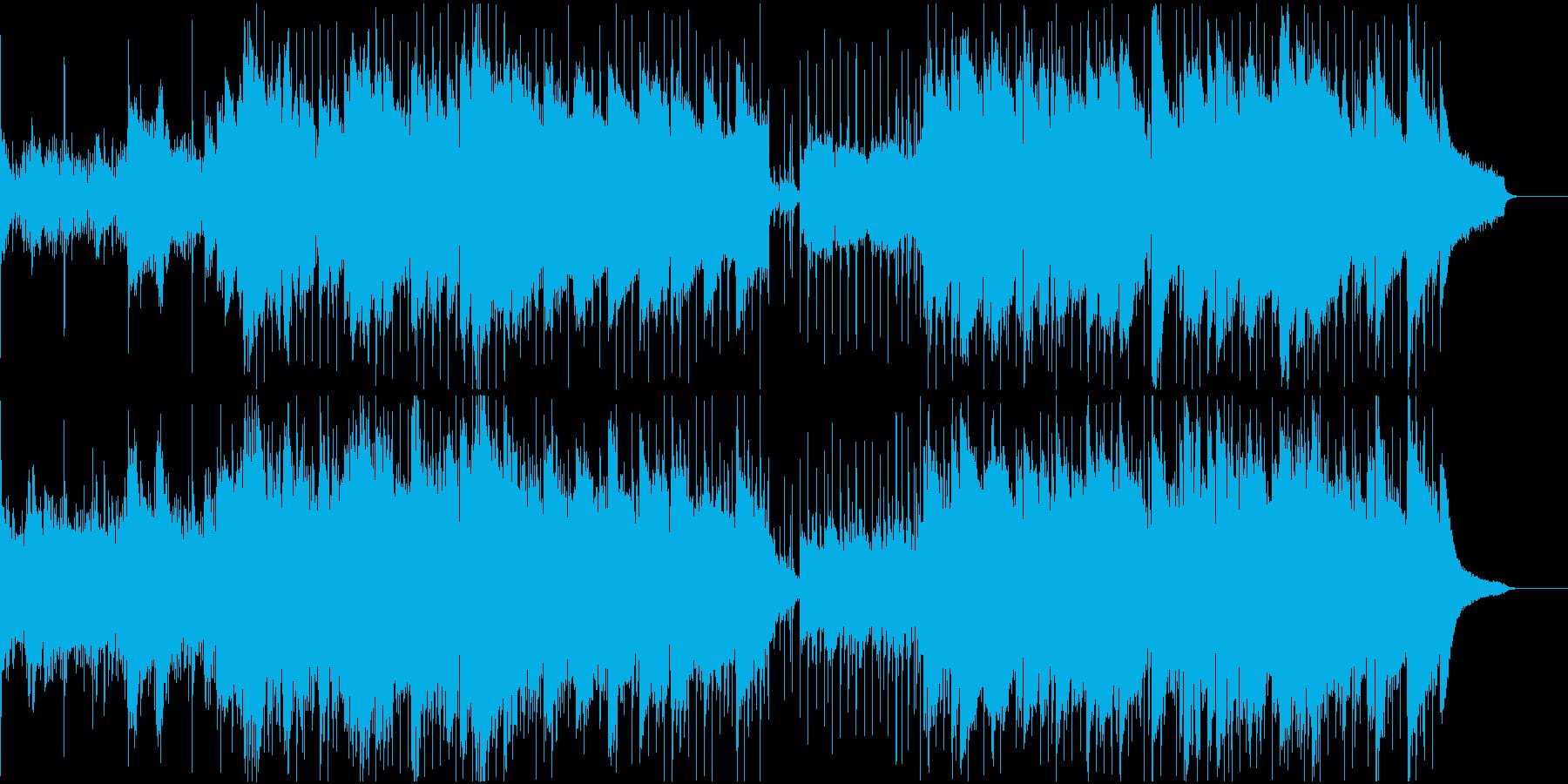 キラキラしたピアノとアコギの企業VPの再生済みの波形