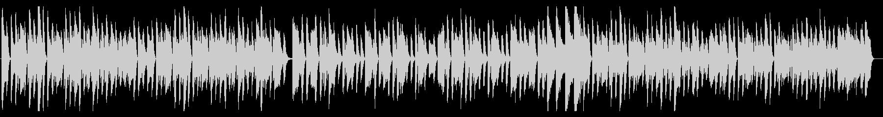 ほのぼのした日常が浮かぶハネたピアノ曲の未再生の波形