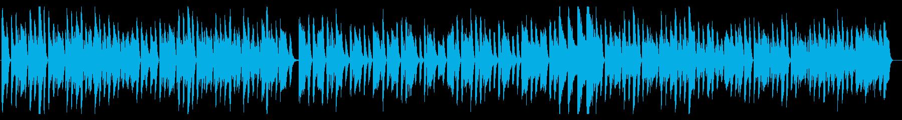 ほのぼのした日常が浮かぶハネたピアノ曲の再生済みの波形