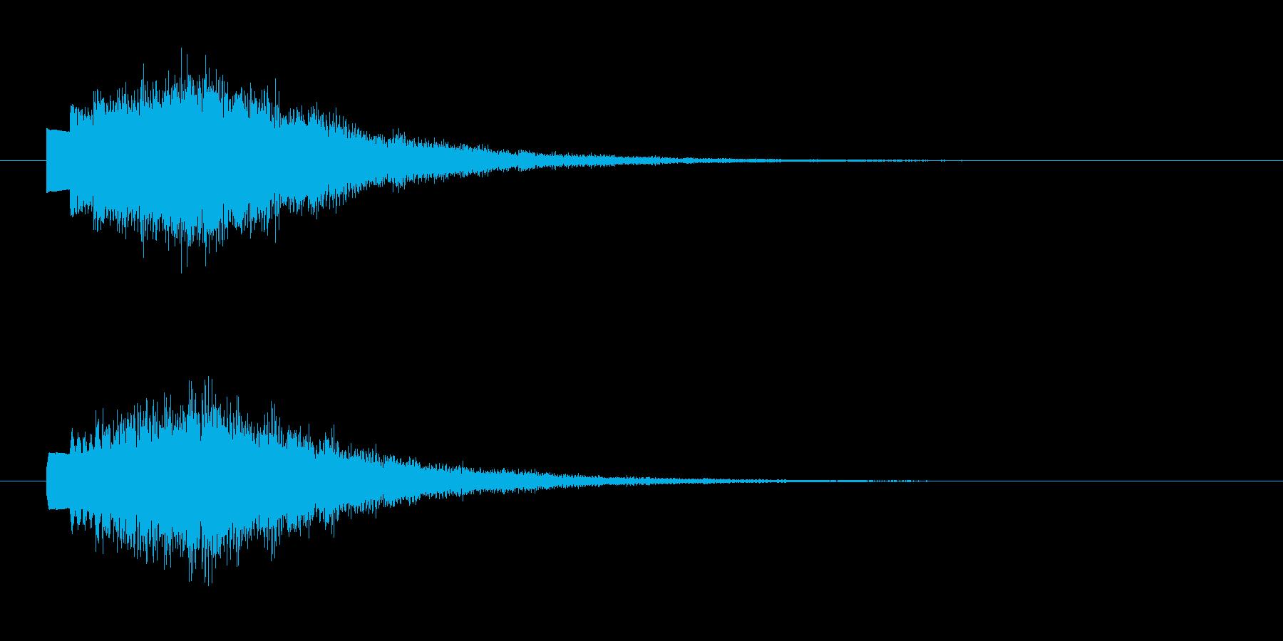 「たららららららん」決定音やクイズの出…の再生済みの波形