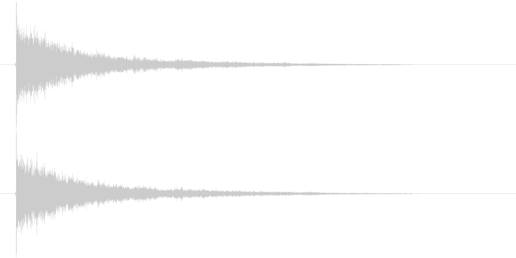 ガシャーン(割れる音、クラッシュ音)の未再生の波形