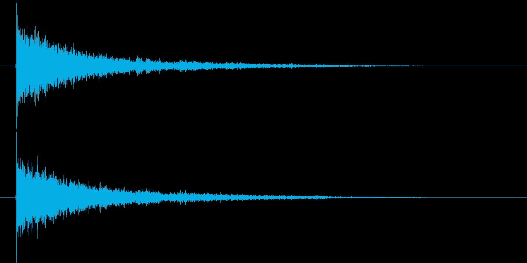 ガシャーン(割れる音、クラッシュ音)の再生済みの波形