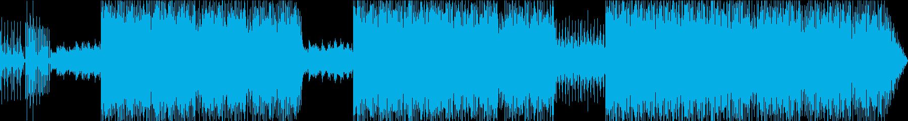 ファンキーなエレクトロビートの再生済みの波形