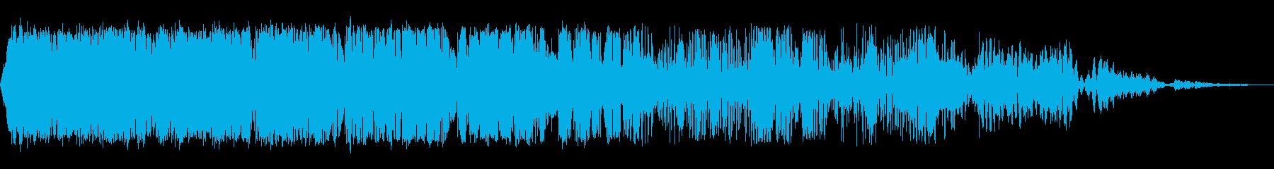 減速スワイプ2の再生済みの波形