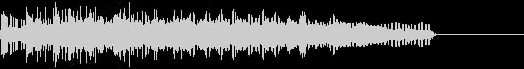 お馴染みのインパクト音!レゲエホーン5回の未再生の波形