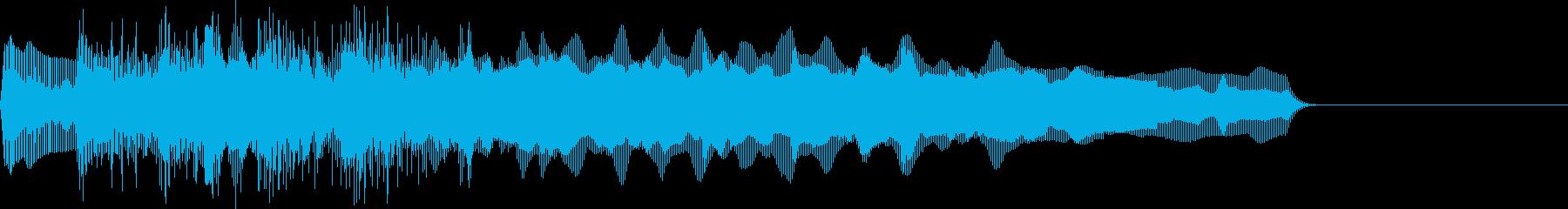 お馴染みのインパクト音!レゲエホーン5回の再生済みの波形