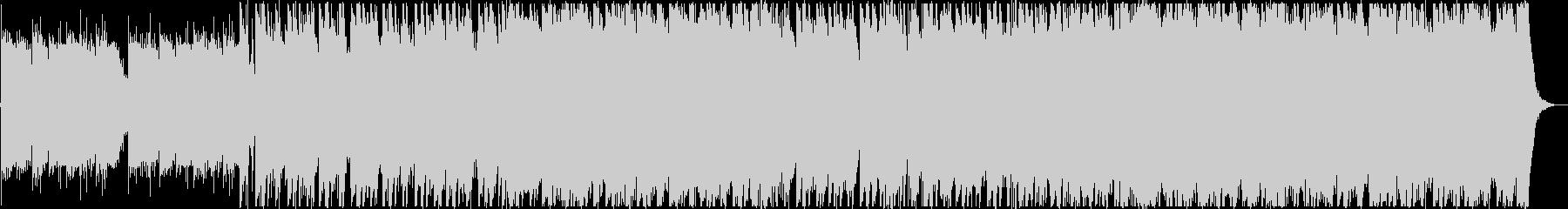 ピアノとオーケストラのゲーム用BGMの未再生の波形