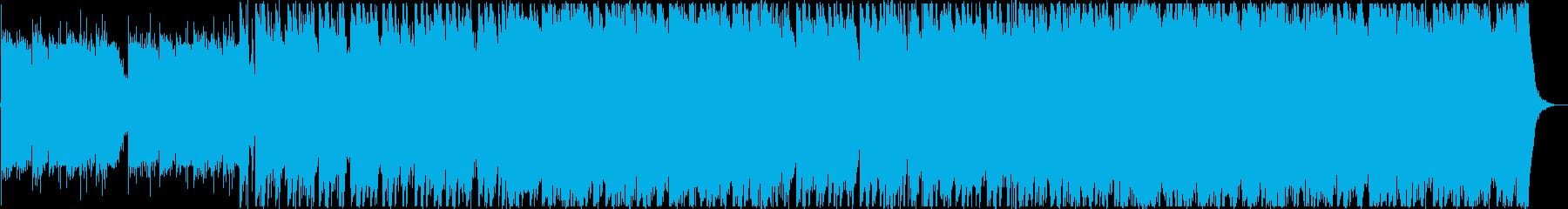 ピアノとオーケストラのゲーム用BGMの再生済みの波形