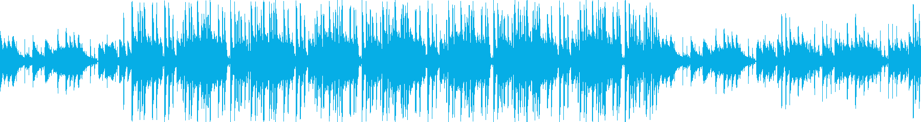 おしゃれなピアノのヒップホップ調ループの再生済みの波形
