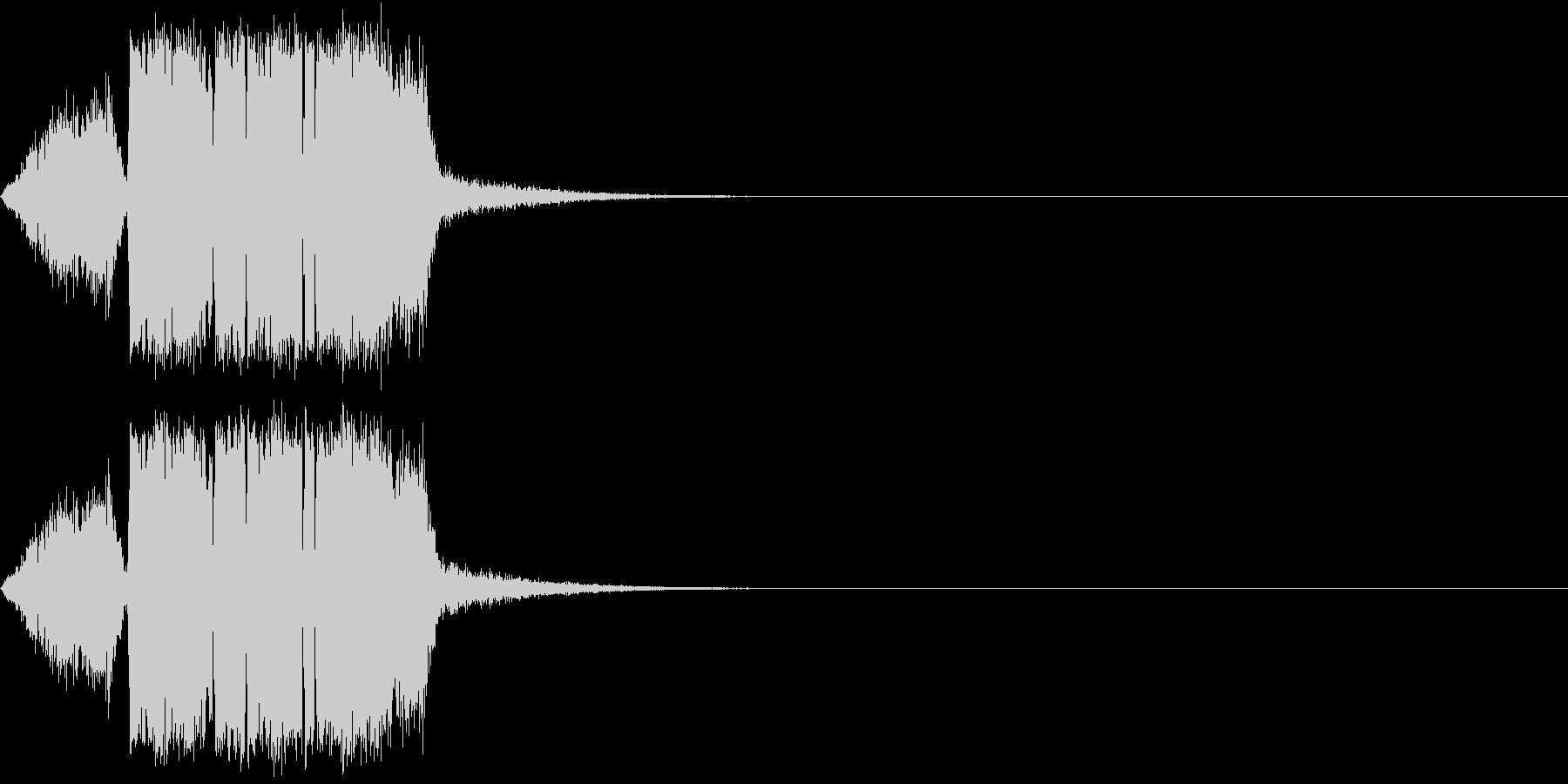 シュー(風を切る・空気を出す)の未再生の波形