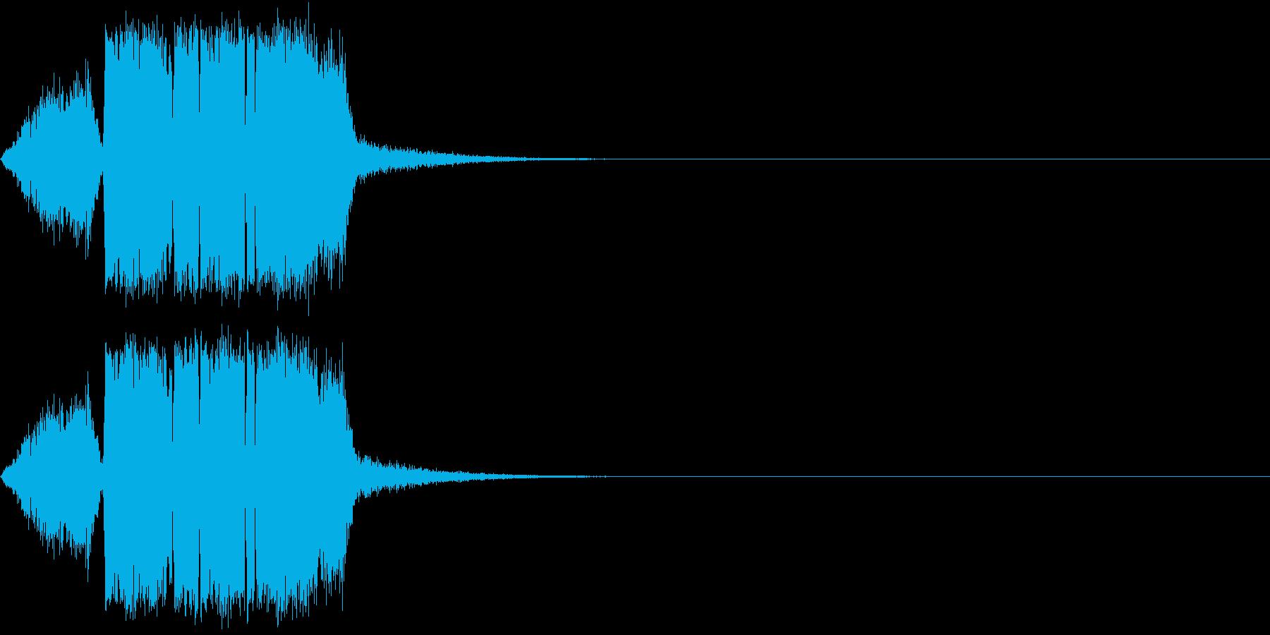 シュー(風を切る・空気を出す)の再生済みの波形