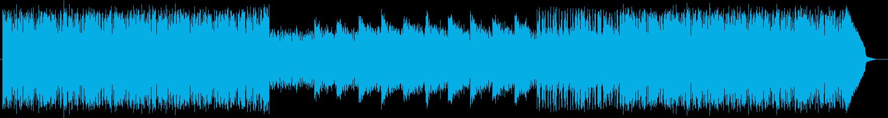 リズミカルで木琴やドラムが印象的なテクノの再生済みの波形