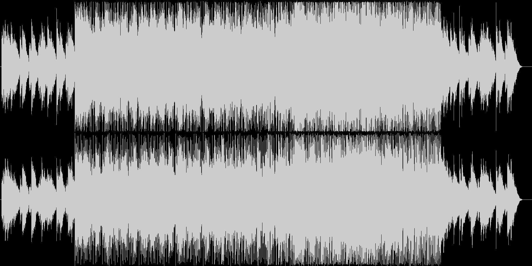 草原を駆け抜けるイメージのBGMの未再生の波形