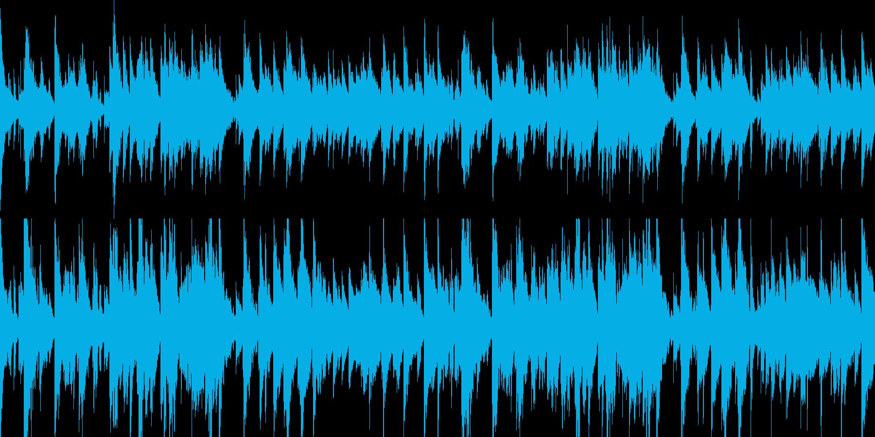 ゆったりとしたおしゃれなピアノBGMの再生済みの波形