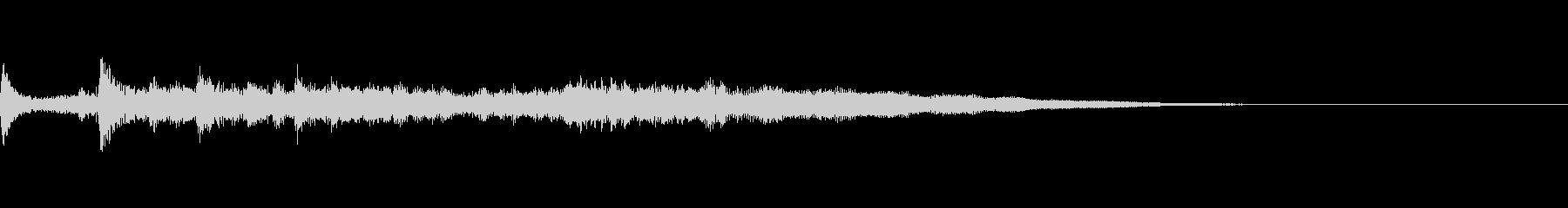 神秘的なアンビエント音(癒し系/静か)の未再生の波形