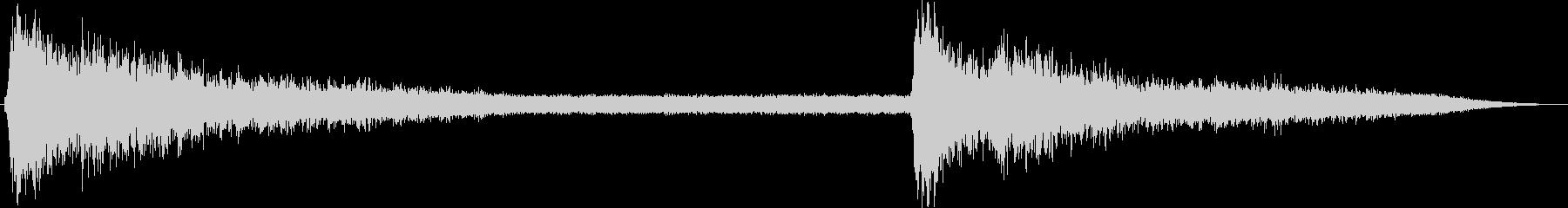 雨の音05(激しい雷雨)の未再生の波形