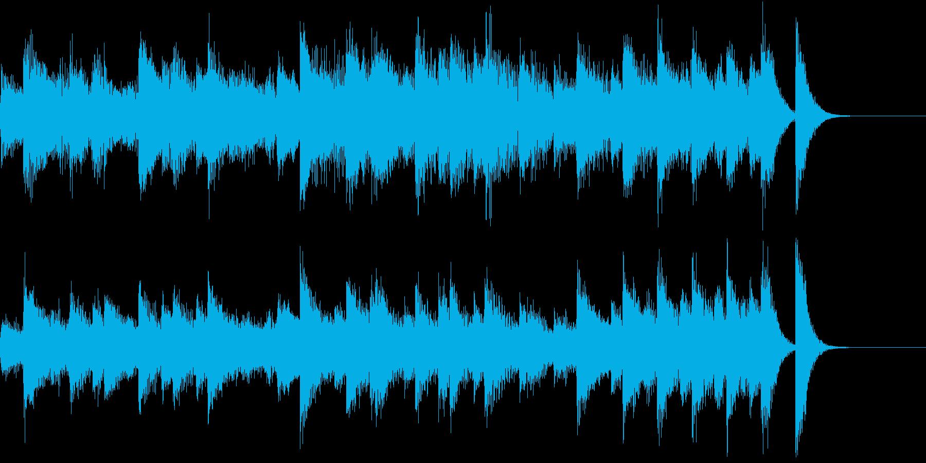 大正を感じる小唄風のジャズピアノジングルの再生済みの波形
