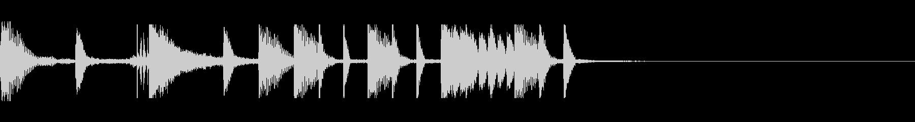 トラップな感じのドラムフィルの未再生の波形